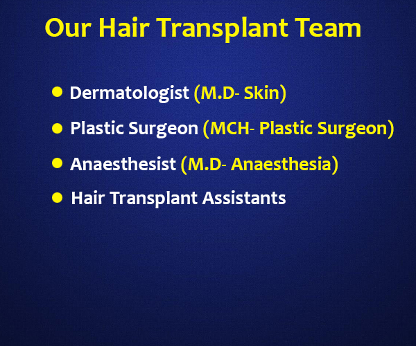 our hair transplant team